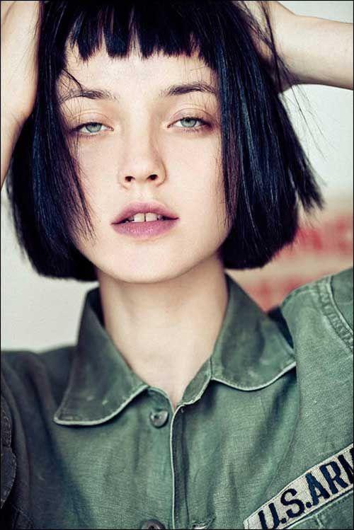 Kısa küt saç modelleri: