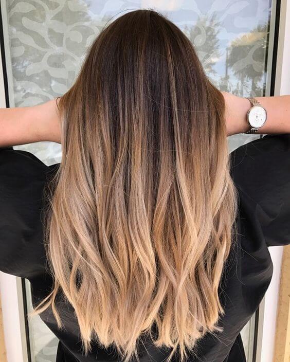 Ombré saç rengi