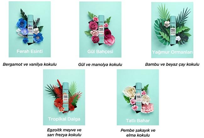 L'Oréal Paris Magic Shampoo Görünmez Kuru Şampuan Çeşitleri