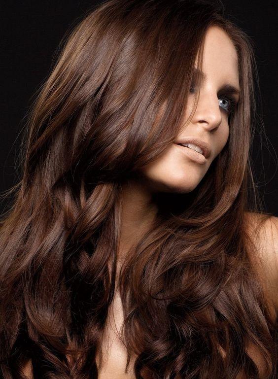 En çarpıcı Kahve Saç Renkleri Saç Sırları