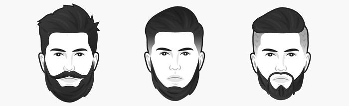 Köşeli yüz şekline göre sakal modelleri: