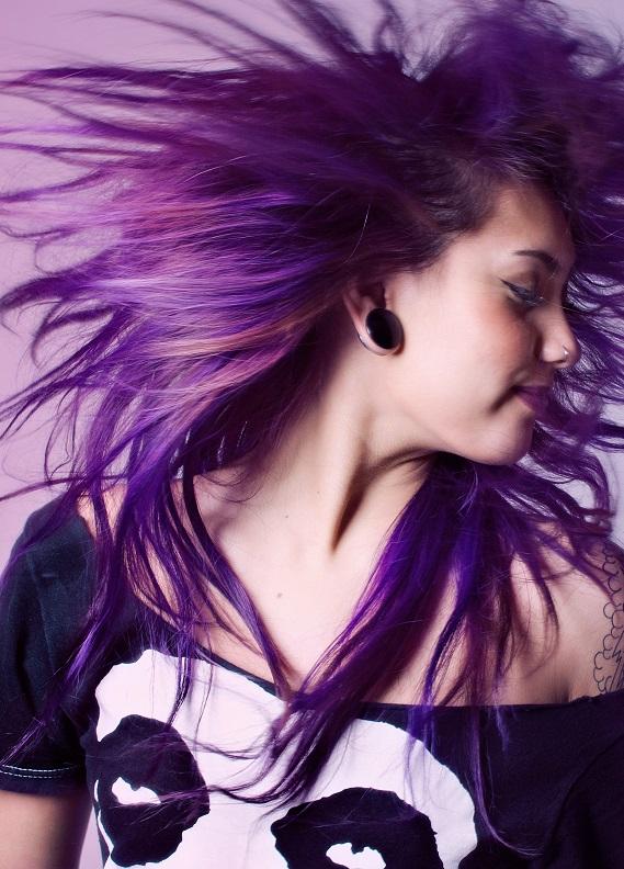 Cesaretin var mı: Mor saç trendi