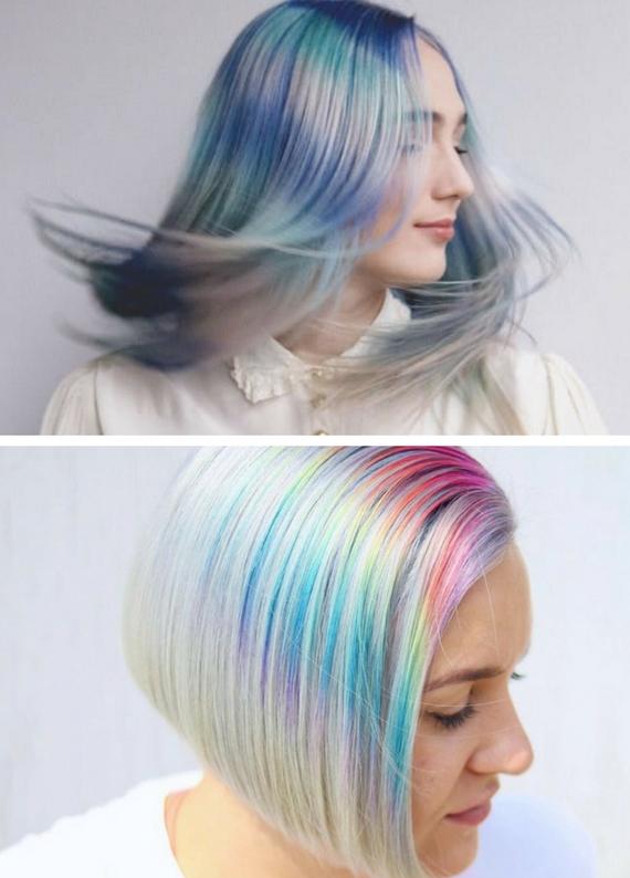 """Gökkuşağı ışıltısı saçlarda: """"Baby rainbow"""" saç trendi"""