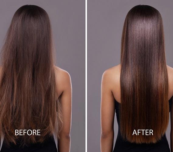 4 adımda nemden kabarmayan pürüzsüz düzlükte saçlar