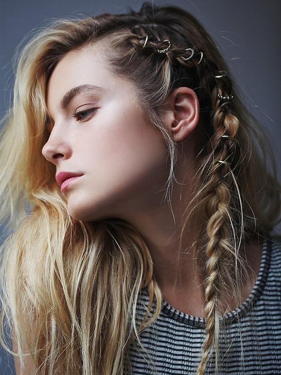Saç piercingi içeren saç modelleri