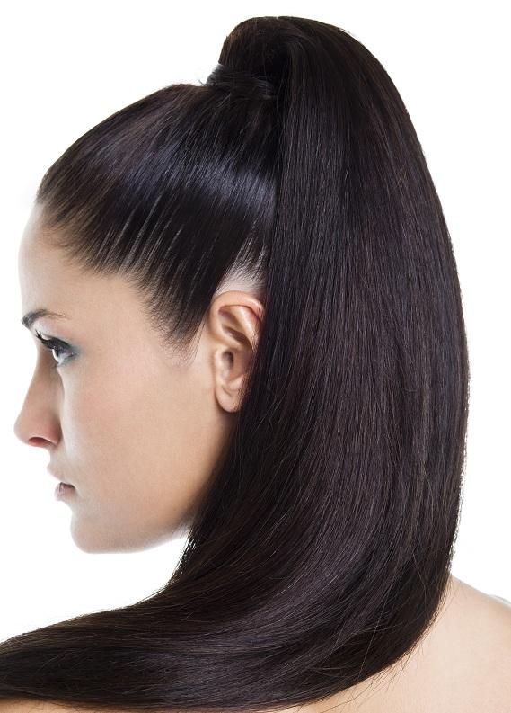 Siyah saçlılara özel atkuyruğu modeli
