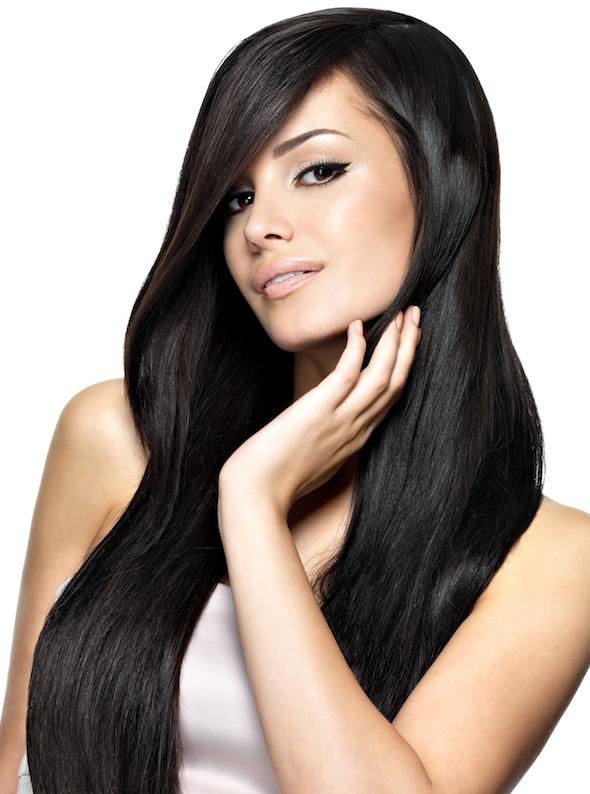Siyah saçlara çok yakışacak uzun saç stili!
