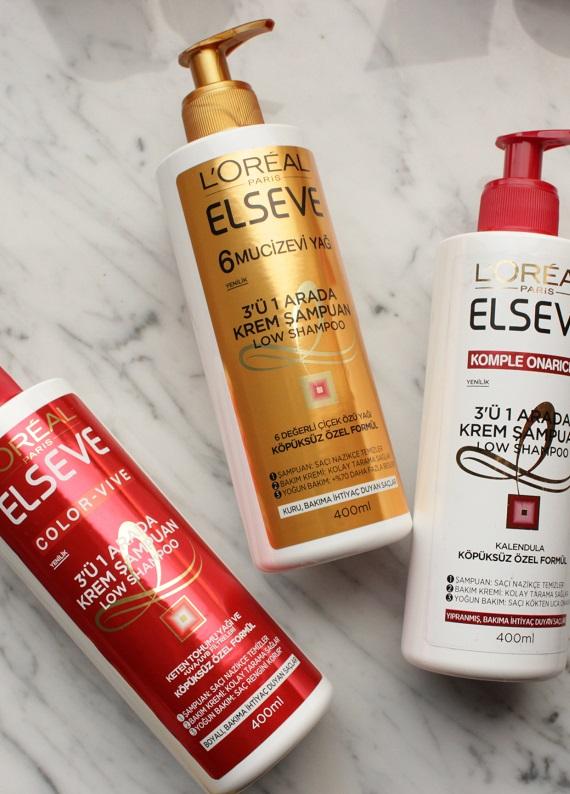 Saç Sırları.com inceledi: Elseve 3'ü 1 Arada Krem Şampuan