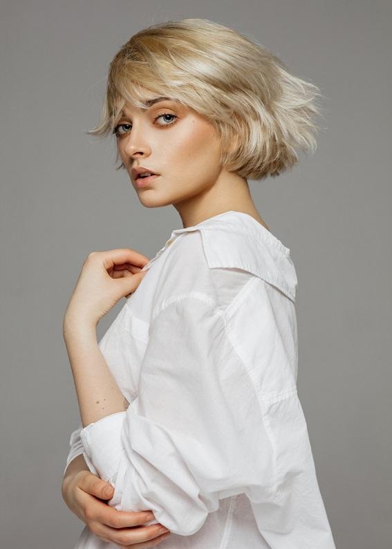 En güzel katlı kısa saç modelleri