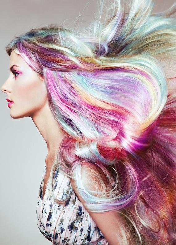 Sonbaharın en havalı saç trendi: Gökkuşağı saçlar