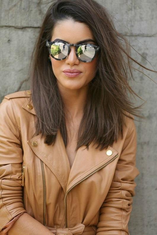 Orta boy saçlar için katlı kesim modelleri