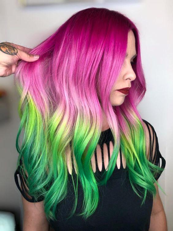 Yazın en tatlı trendi: Karpuz saç trendi!