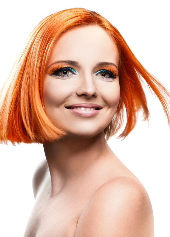 En yeni saç trendi: Turuncu saçlar