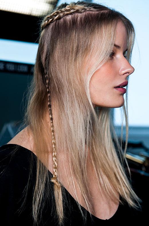 Podyumlardaki saç trendi: Örgü modelleri