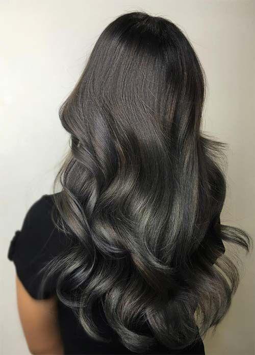 Gizemli Baş Döndüren Saç Rengi Siyah Saçlar Saç Sırları