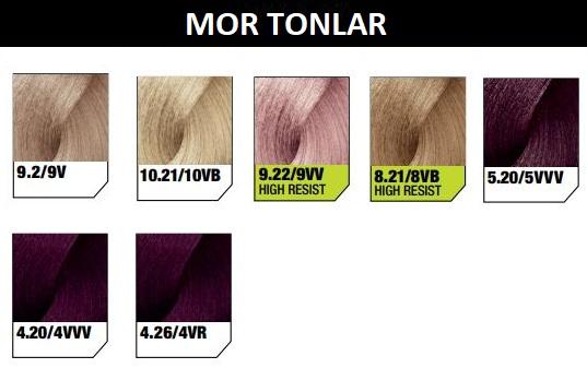 Inoa Saç Boyası Renklerinden Mor Tonlar
