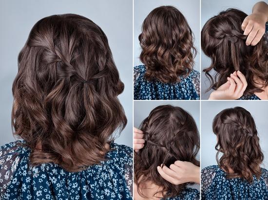 Orta uzun saçlara özel örgüler