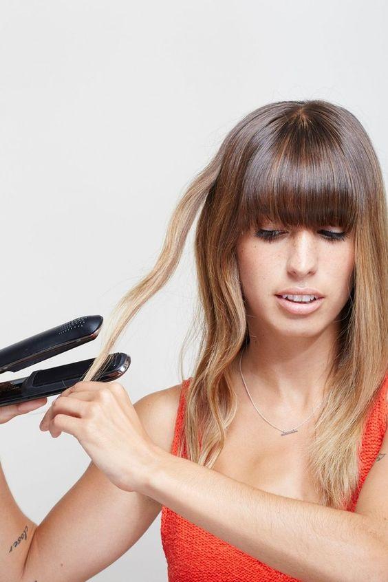 Saç düzleştirici kullanarak su dalgası yapmak