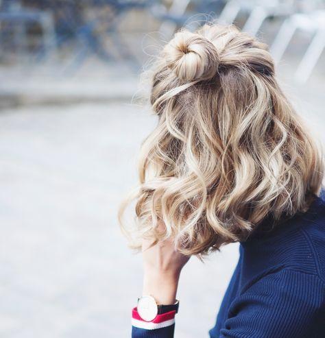 Kısa saçlılar için topuz