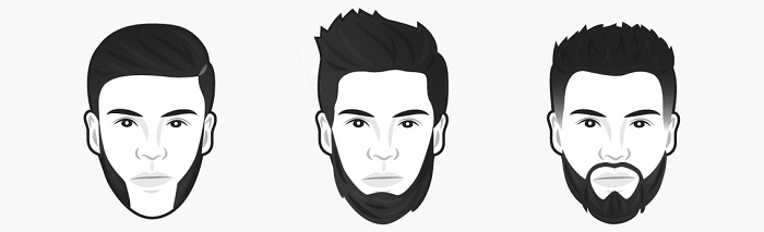 Üçgen yüz şekline göre sakal modelleri