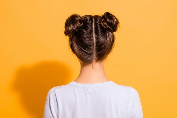 çift topuz saç modeli