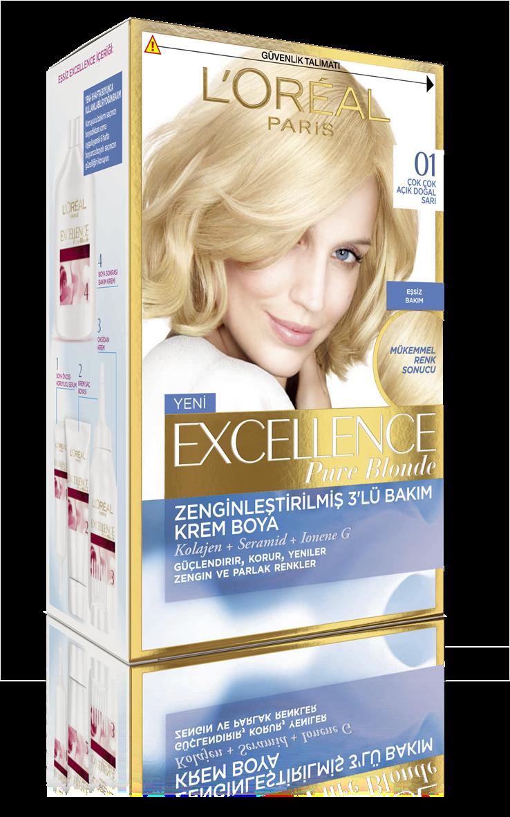Excellence Creme Saç Boyası 01 Çok Çok Açık Doğal Sarı