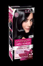 Garnier Çarpıcı Renkler Saç Boyası 1.0 Ekstra Yoğun Siyah