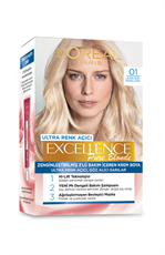 Excellence Creme Saç Boyası 01 Ultra Açık Doğal Sarı