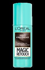 Magic Retouch Kapatıcı Sprey - Koyu Kahverengi Saçlar