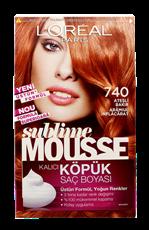 L'Oréal Paris Sublime Mousse Köpük Saç Boyası 740 Ateşli Bakır