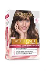 Excellence Creme Saç Boyası 6.1 Küllü Açık Kahve